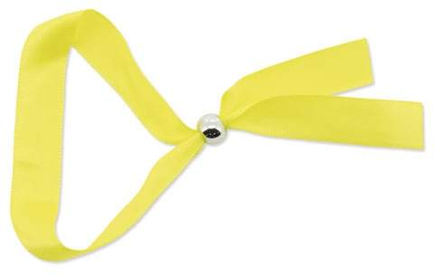 Náramek s kuličkovou sponou, žlutá