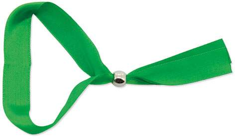 Náramek s kuličkovou sponou, zelená