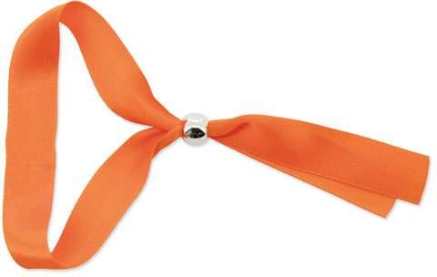 Náramek s kuličkovou sponou, oranžová