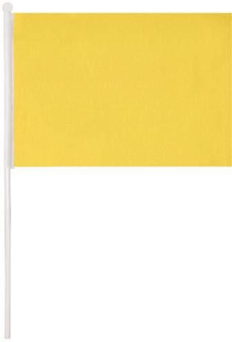 Vlaječka, žlutá reklamní předmět s potiskem
