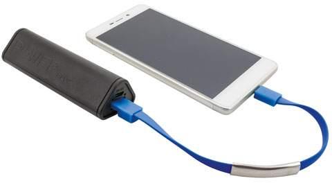 Náramek s Micro USB kabelem, modrá