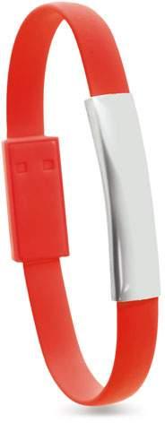 Náramek s Micro USB kabelem, červená