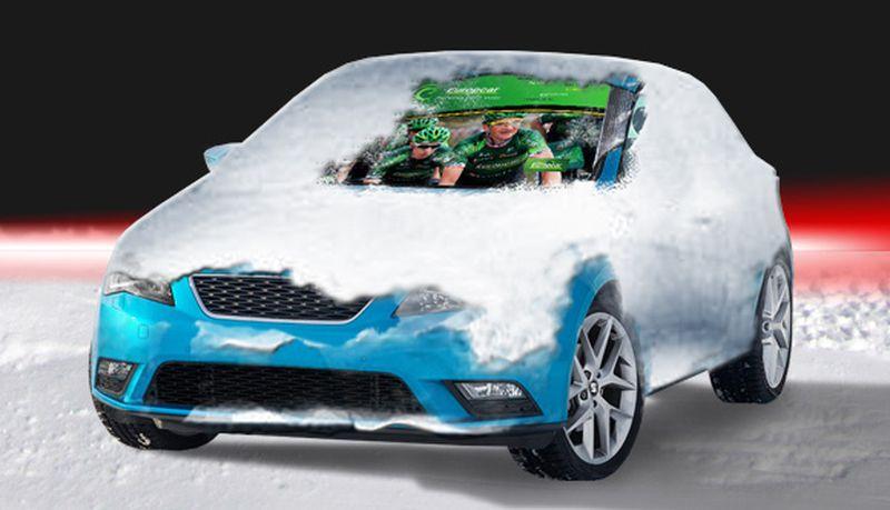 Zimní clona na přední sklo auta