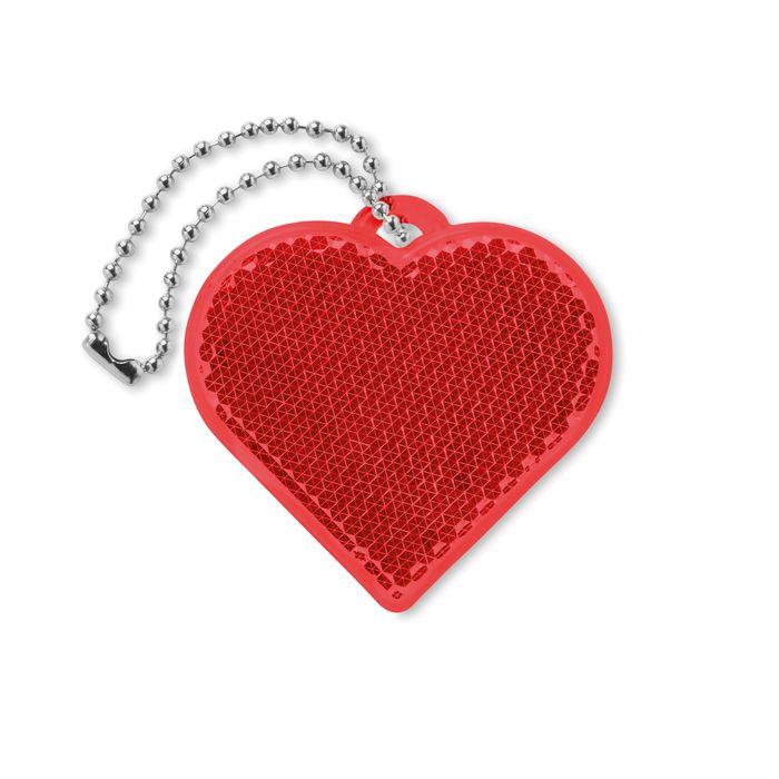 Odrazka ve tvaru srdce s potiskem