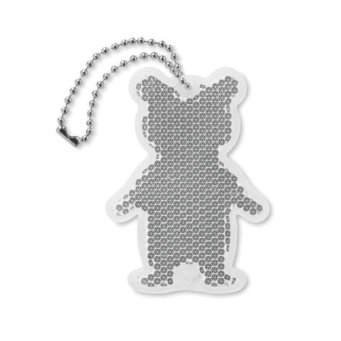 Odrazka ve tvaru medvídka s potiskem
