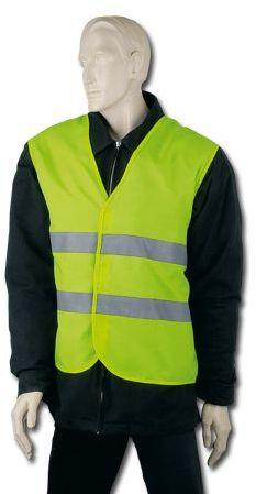 IRMA polyesterová reflexní vesta, dospělá velikost, žlutá