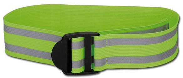 FLORIAN polyesterový elastický reflexní pásek, žlutá