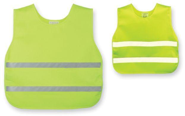 SKIBI II polyesterová reflexní vesta, dětská velikost, žlutá