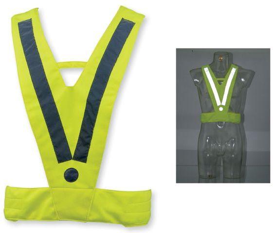 ATILA II polyesterová reflexní vesta, dospělá velikost, žlutá