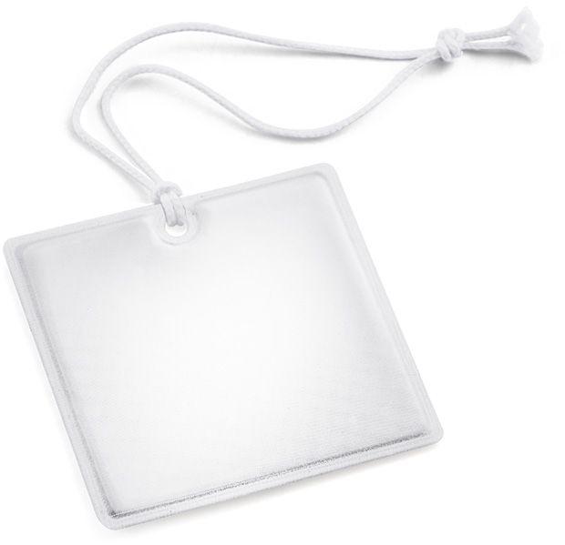 Reflexní přívěšek QUADRI bílá