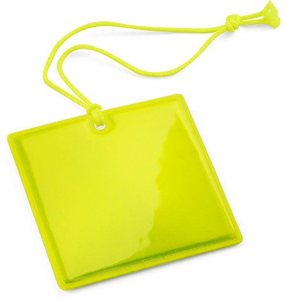 Reflexní přívěšek QUADRI žlutá