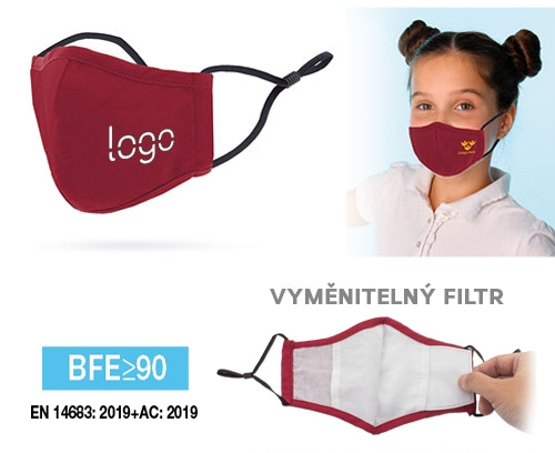 Dětská Obličejová rouška s kapsou