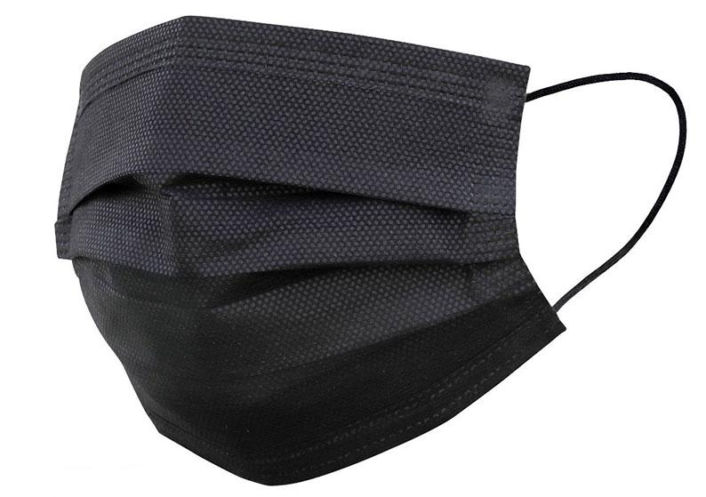 Černá jednorázová rouška