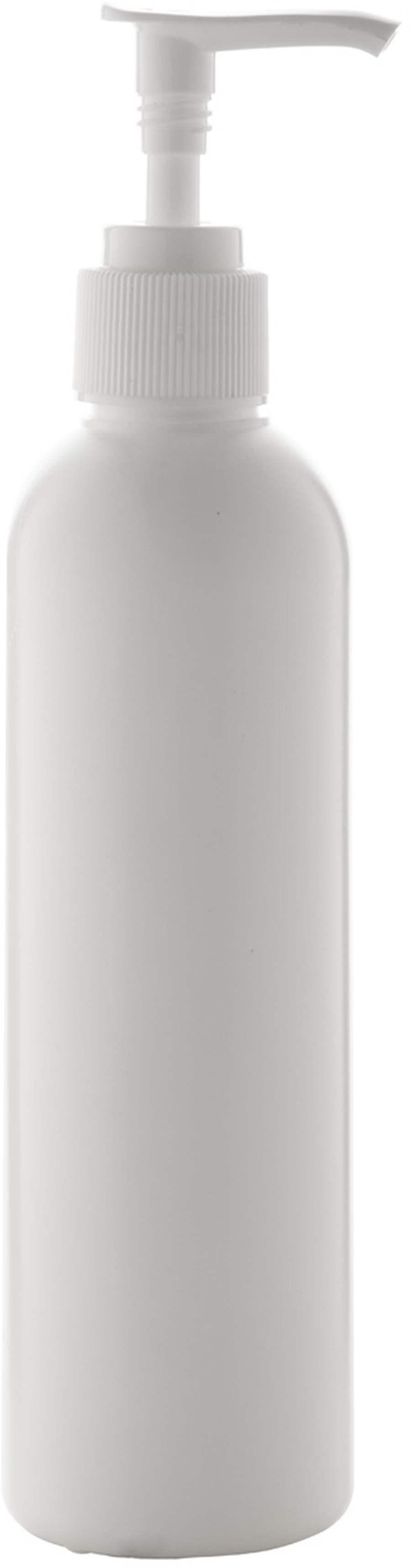 Čisticí gel na ruce v bílé plastové lahvičce s dávkovačem, 250 ml. 70% alkoholová formulace. Kosmetický přípravek, nebiocidní!