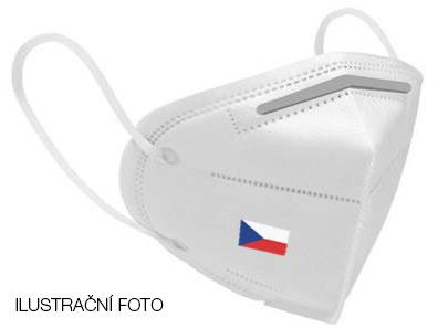 Respirátor s potiskem české vlajky