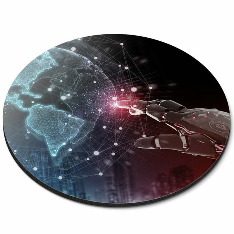 Kulatá antivirotická a antibakteriální podložka pod myš