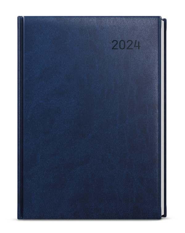 Týdenní diář - Oskar - vivella - A5 - modrá