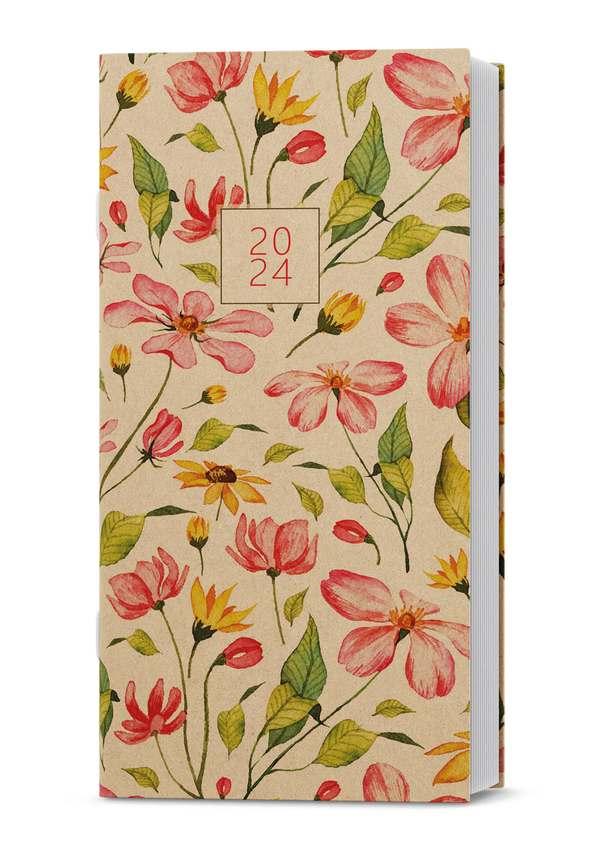 Měsíční diář - Halina - kraft - Květiny