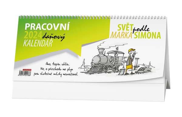 Stolní kalendář - Pracovní daňový kalendář - Svět podle Marka Simona