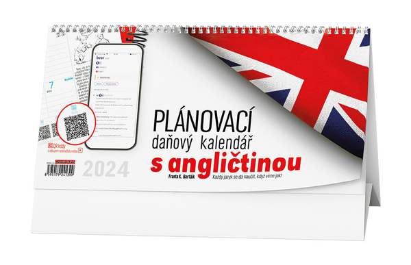 Stolní kalendář - Plánovací daňový kalendář s angličinou
