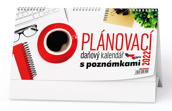 Stolní kalendář - Plánovací daňový kalendář s poznámkami