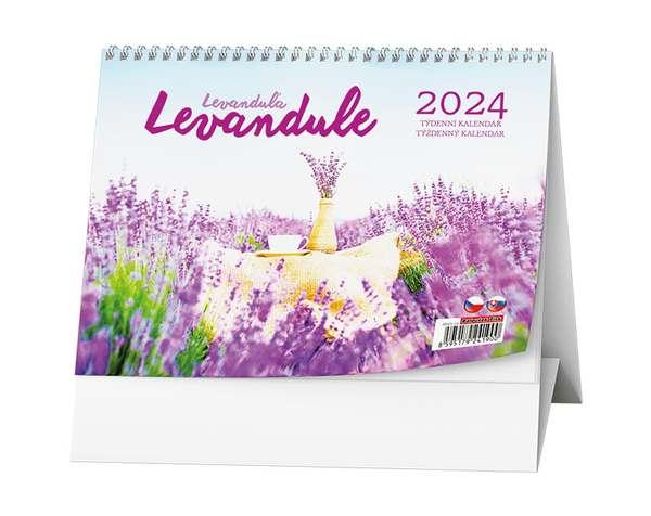 Stolní kalendář - Levandule