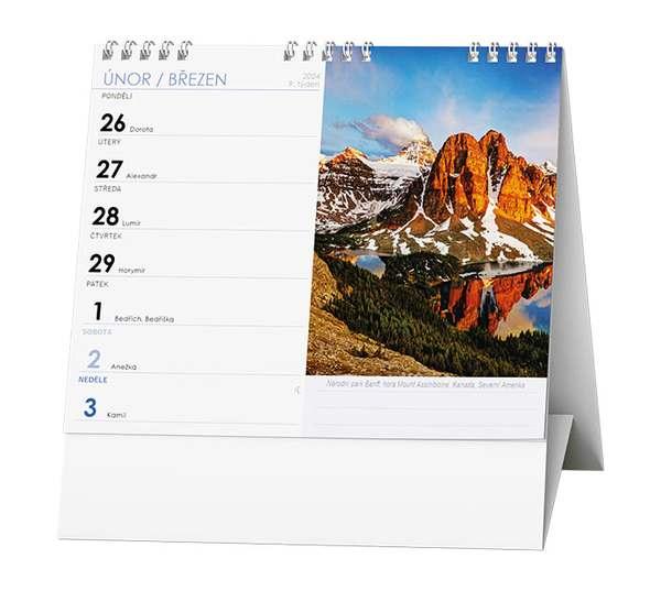 Stolní kalendář - IDEÁL - Příroda, hory, řeky, jezera....