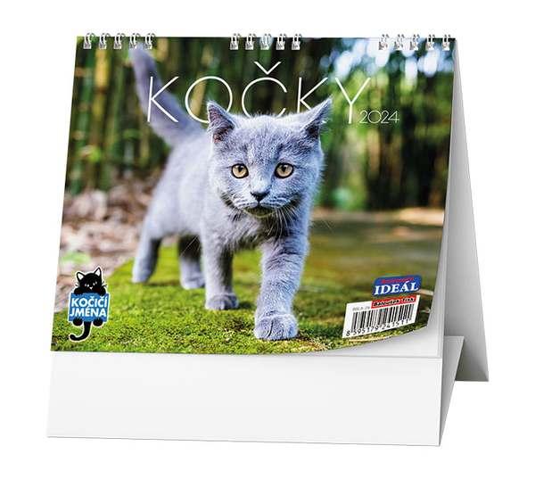 Stolní kalendář - IDEÁL - Kočky /s kočičími jmény/
